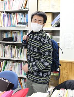 中村さん退勤風景