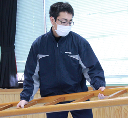 中村さん個別訓練準備